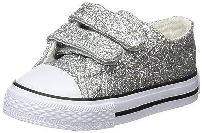 divers design coût modéré Chaussures de skate Conguitos HVS14102, Baskets bébé Fille, Argenté (Glitter ...