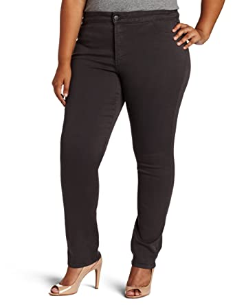 7f65f64afe4c9 NYDJ Women s Plus-Size Janice Legging Fit Skinny Jeans with Faux Front  Pocket