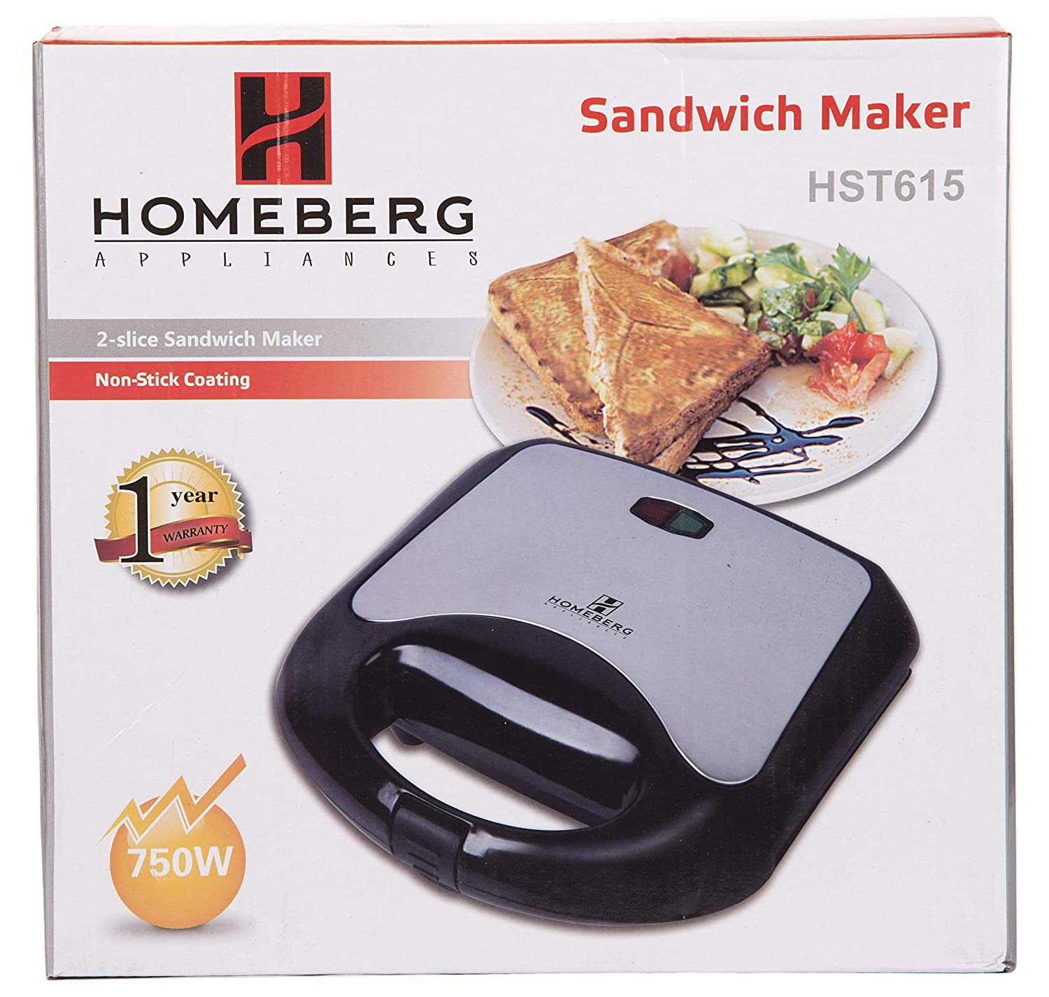 Buy Momai Enterprise Homeberg Sandwich Maker Hst615 Online At Low Prices In India Amazon In