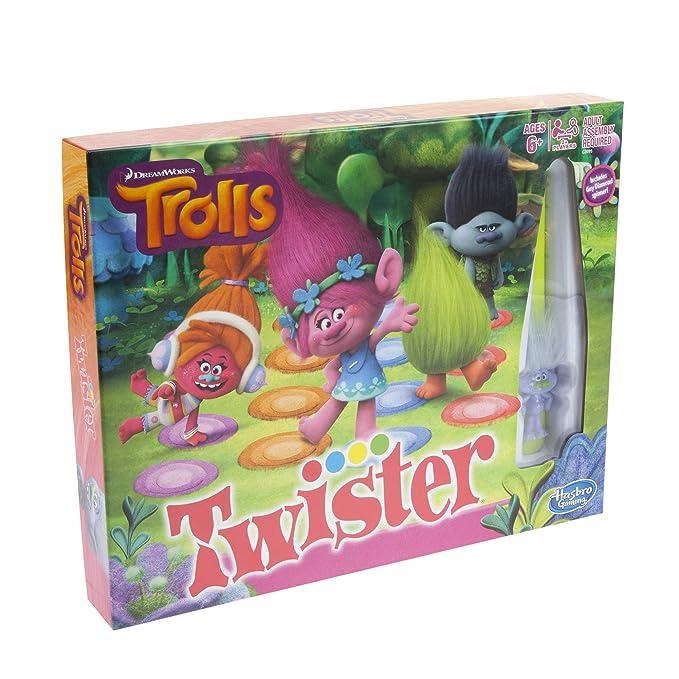 Amazon com: Hasbro Gaming Twister Game: DreamWorks Trolls