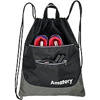 Drawstring Backpack Gym Sack String Bag Sports Athletic Sackpack Gymsack School Bookbag Men Women Boys Girls Kids