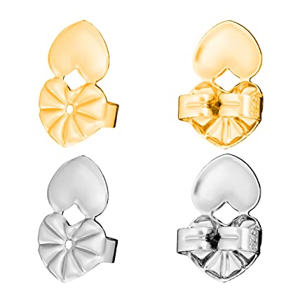 c931ce4a8 K&P Beauty Glamorous Earring Lifts to Instantly Lift Earring Backs -  Securely Raise Stretched Ear Lobes