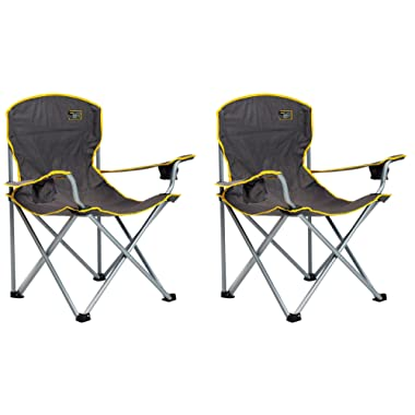 Quik Chair Heavy Duty Folding Camp Chair - Grey (2 PACK)