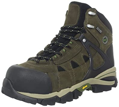 Timberland PRO Men's Hyperion 6 Inch IN Comp Toe Work Boot,Olive Brown,8.5