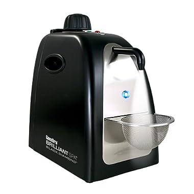 Gemoro 0362 Black Diamond Brilliant Spa Personal Sized Black Matte Steam Cleaner, 16-Ounce