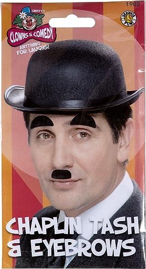 ce675c8f18b99 Amazon.com  Smiffys Chaplin Moustache and Eyebrows Costume Accessory ...