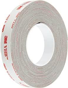 3M 1/2-5-RP32 VHB Tape 0.5 in width x 5 yd length (1 Roll),Gray