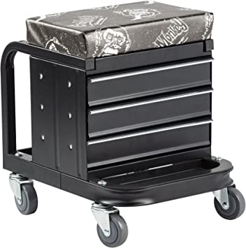 5 Rolling Casters with 350 Lbs Capacity for Auto Car Garage Gas Monkey Mechanic Creeper Seat and Stool Combo