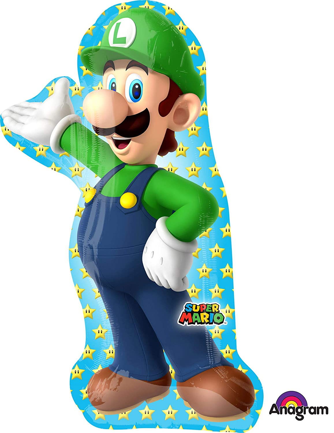 Amazon.com: Mario Brothers Luigi Super Shape – Globo: Toys ...