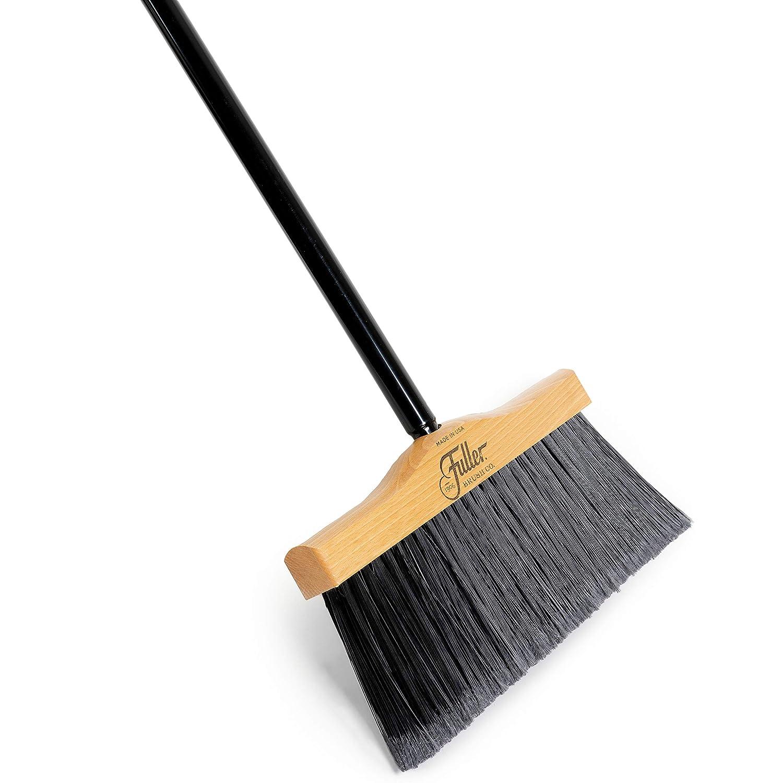 Fuller Brush Indoor/Outdoor Broom - Heavy Duty Wide Wooden Sweeper w/Long Bristles - Commercial Floor Brush for Salon, Shop, Kitchen & Garage - 12-inch Wide
