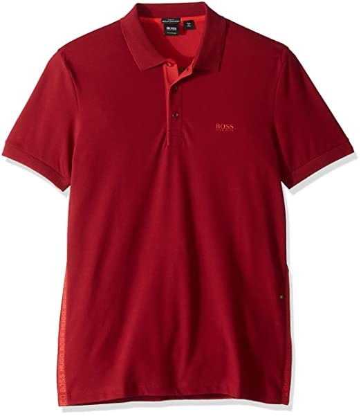8152ef357 Hugo Boss Mens Paule Active Stretch S'café Polo Polo Shirt: Amazon.ca:  Clothing & Accessories