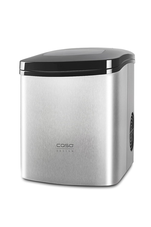 Caso 3304 IceMaster Ecostyle Design Eiswürfelmaschine, hochwertiges Edelstahlgehäuse, Kompressortechnik, 150 W, silber CASO Germany