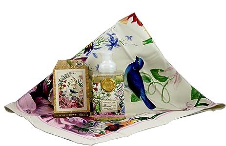 Michel Design Works Kitchen Towel And Foaming Hand Soap Bundle (Romance)