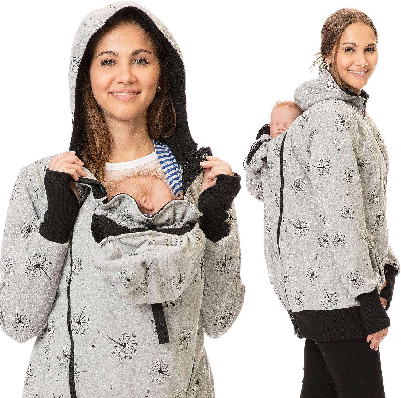 GoFuture/® 5in1 Babytragejacke Baby Tragen auf der Brust /& dem R/ücken Umstandsjacke Normale Tragejacke ABRITER Sweatstoff H/öchste Qualit/ät
