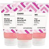 Amazon Brand - Solimo Oil-free Pink Grapefruit Facial Scrub, 2% Salicylic Acid Acne Medication, Dermatologist Tested, 4.2 Flu