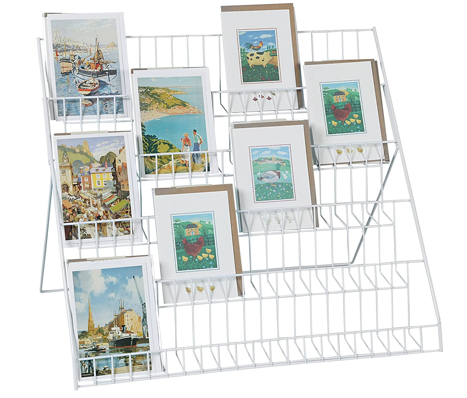 Stand store lightweight collapsible greeting card display stand stand store lightweight collapsible greeting card display stand white amazon office products kristyandbryce Choice Image