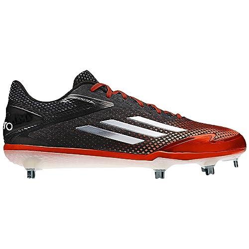 490768d6712 adidas Adizero Afterburner 2.0 Mens Baseball Cleat 10.5 Black Tech Grey  Met Orange