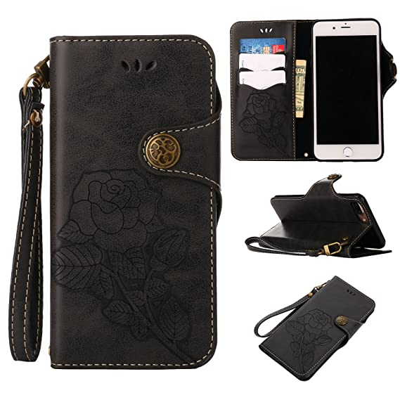 purchase cheap 45e6a 2517f Black Friday Deals 2017 iPhone 8Plus Wallet Case,iPhone 7Plus Leather  Case,Valentoria 2 in 1 Book in Italian Style 3 Card Holder Cash Slot  KickStand ...