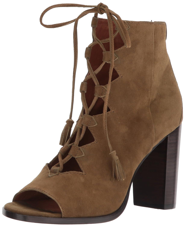 FRYE Women's Gabby Ghillie Dress Sandal B01MS95BKS 7.5 B(M) US|Khaki Suede