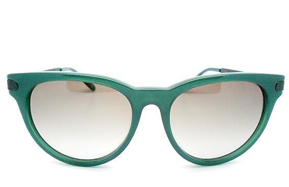 c6259b32ac Bottega Veneta B.V 279 S Dark Green Oversized Sunglasses with black  engraved temples