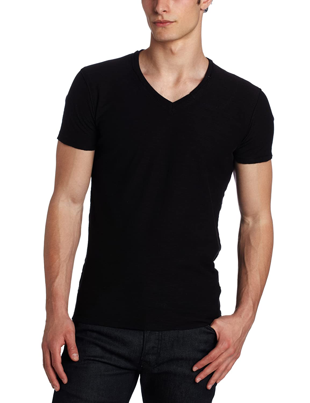 Diesel Men's Tos Reversed Slub Jersey T-Shirt Black XX-Large Diesel Men' s Collections 00CB3700KDY