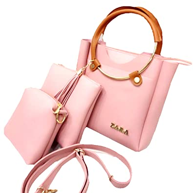 f8e0635095 Zara and MK Women's Peach Handbag, Sling and Shoulder Bag - Set of 3:  Amazon.in: Shoes & Handbags