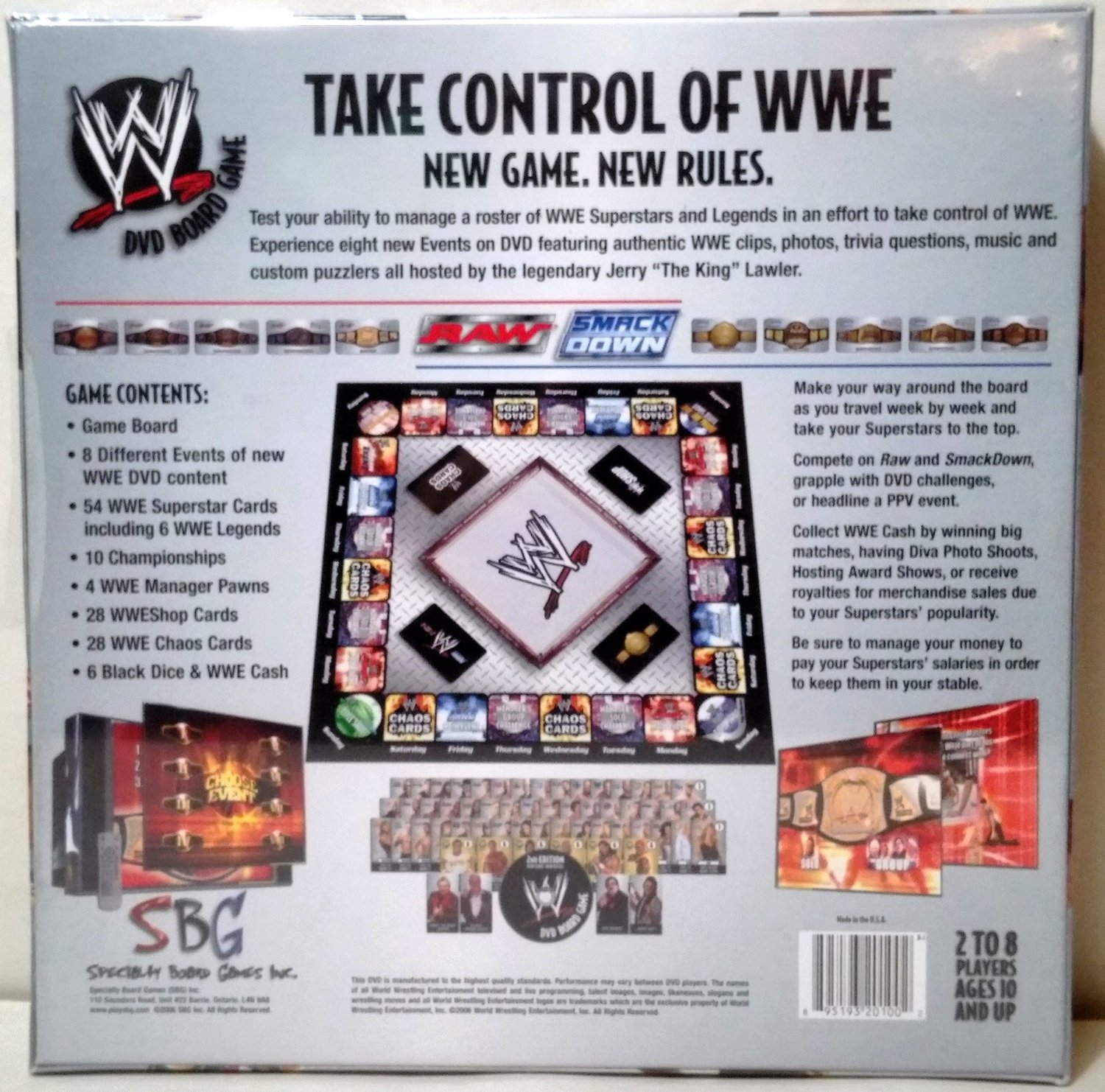 Amazon. Com: wwe dvd board game 2nd edition: toys & games.