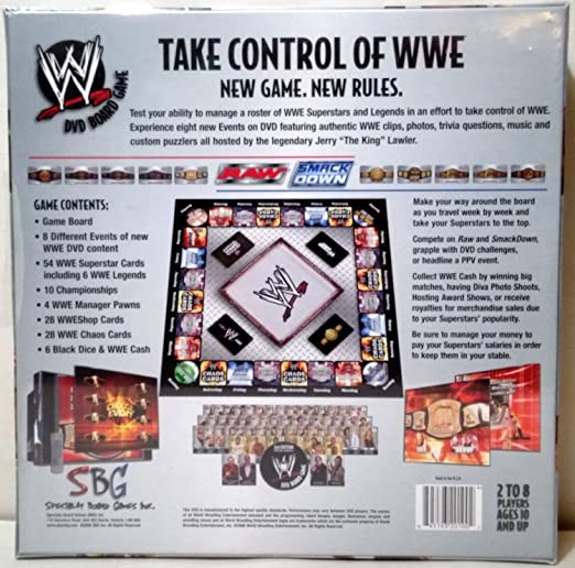 Wwe dvd board game (2nd edition) 2006 west shore: langford,colwood.