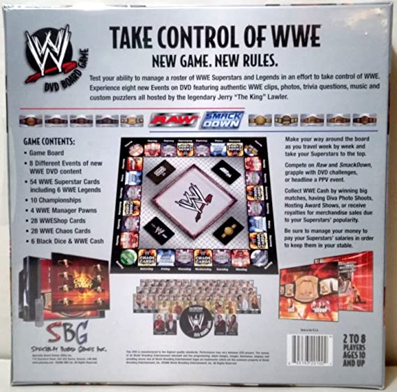 Wwe dvd board game for sale in perris, ca offerup.