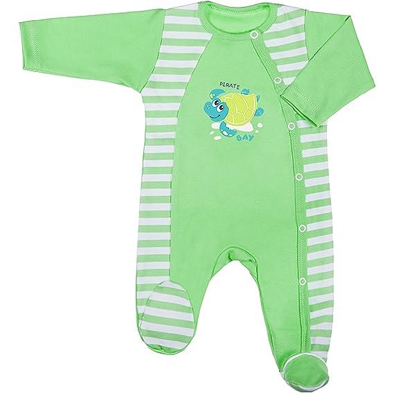 Be Mammy Pelele Pijama Bebé Niño BEEK0013 (Menta/Blanco Rayas, 86 ...