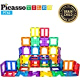 PicassoTiles¨ PT42 Designer Artistry Kit 42pcs Set Magnet Building Tiles Clear Color Magnetic 3D Building Block…