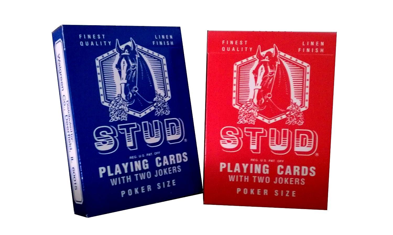 amazon com 2 new decks old style stud regular index playing cards