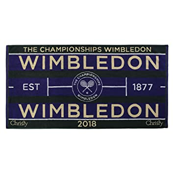 Autogramme & Autographen Tennis Wimbledon 2018 on Court Damen Tennis Handtuch von Christy Uk 132 Jahre Wimbledon