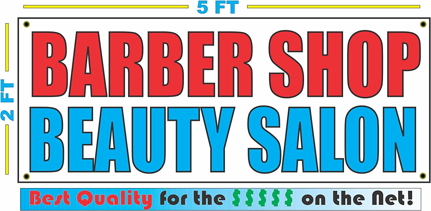 2x3 BARBER SHOP OPEN Red /& White Banner Sign NEW Discount Size /& Price FREE SHIP