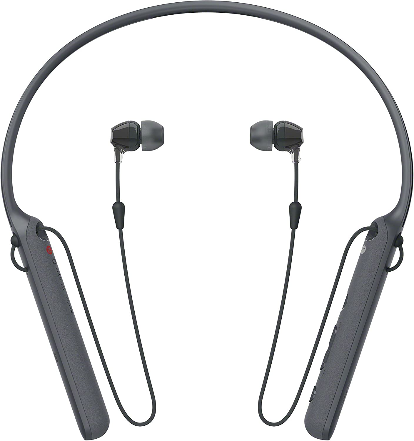 Sony Wireless Behind-Neck Headset w/Earbuds - Black - WI-C400 (Renewed)