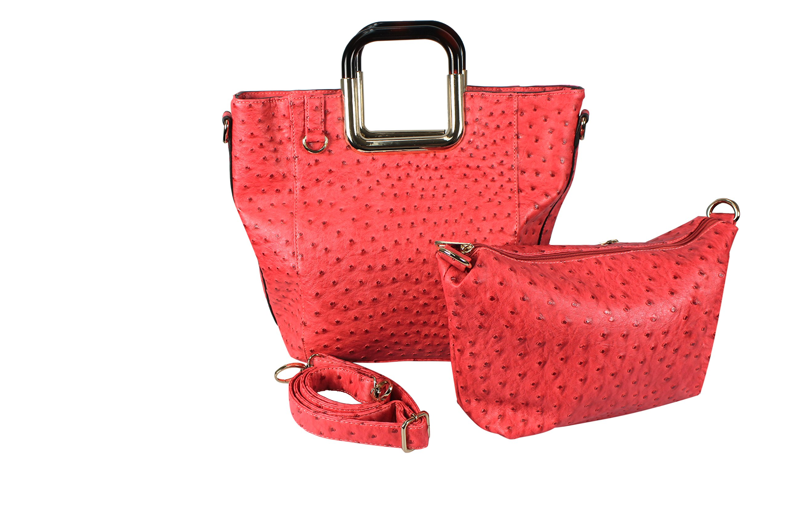 Peach Couture Elegance Personified 2 in 1 Tote and Satchel Exquisite Handbags Coral