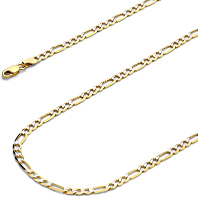 Wellingsale 14k Yellow Gold Polished 4.2mm Cuban Concaved Curb HOLLOW Chain Necklace with Lobster Claw Clasp