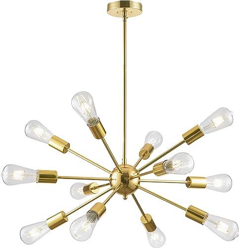 Loclgpm Modern Gold Sputnik Chandelier