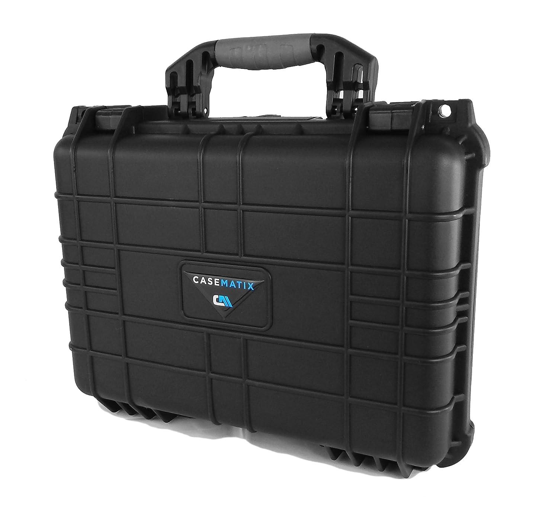 CASEMATIX 16インチ 防水デジタル一眼レフカメラバッグケース ニコン 一眼レフカメラ D3400 D3500 D850 D750 D7500 D5600 D5500 D500 D750 カメラ本体 レンズ フィルター カード アクセサリー B07P5PBWX1