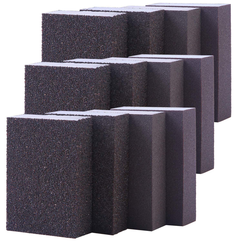 Washable and Reusable Sand Sponge Kit Sanding Sponge Superfine Grade 8 Pieces Sanding Blocks