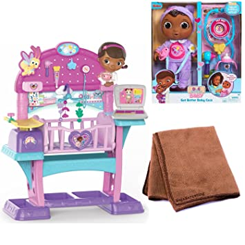 Just Play Doc Mcstuffins Baby All In One Nursery Toy And Just Play Doc  Mcstuffins Get