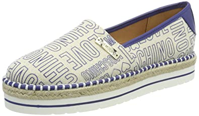 Womens Scarpad.13447/35 Napp.Pu+Cam.Rosa Loafers Love Moschino