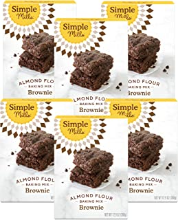 product image for Simple Mills Almond Flour Baking Mix, Gluten Free Brownie Mix, Easy to make in Brownie Pan, Chocolate Flavor, Made with whole foods, 6 Count (Packaging May Vary)