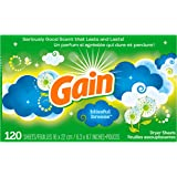 Gain Fabric Softener Dryer Sheets, Blissful Breeze, 120 Count
