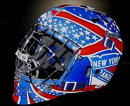 Henrik Lundqvist Autographed New York Rangers Goalie Mask Psa Dna