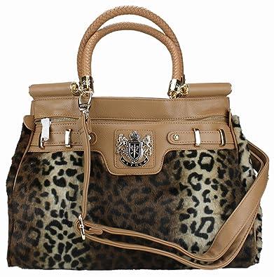 304252023c92 Women LYDC Designer Yellow Leopard Animal Print Faux Fur Laptop Bag Ladies  Leather Style Satchel Handbag