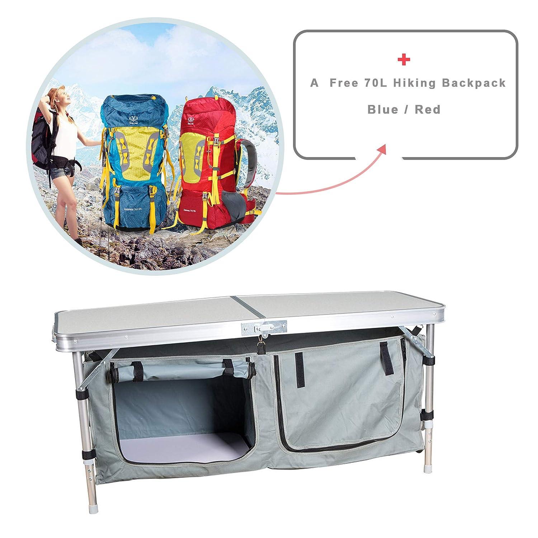 livbest LiveBest折りたたみ式シルバーアルミ合金5 mm Fireボードmini-campingテーブルSurrounded byベルクロ固定   B071GQK6G5