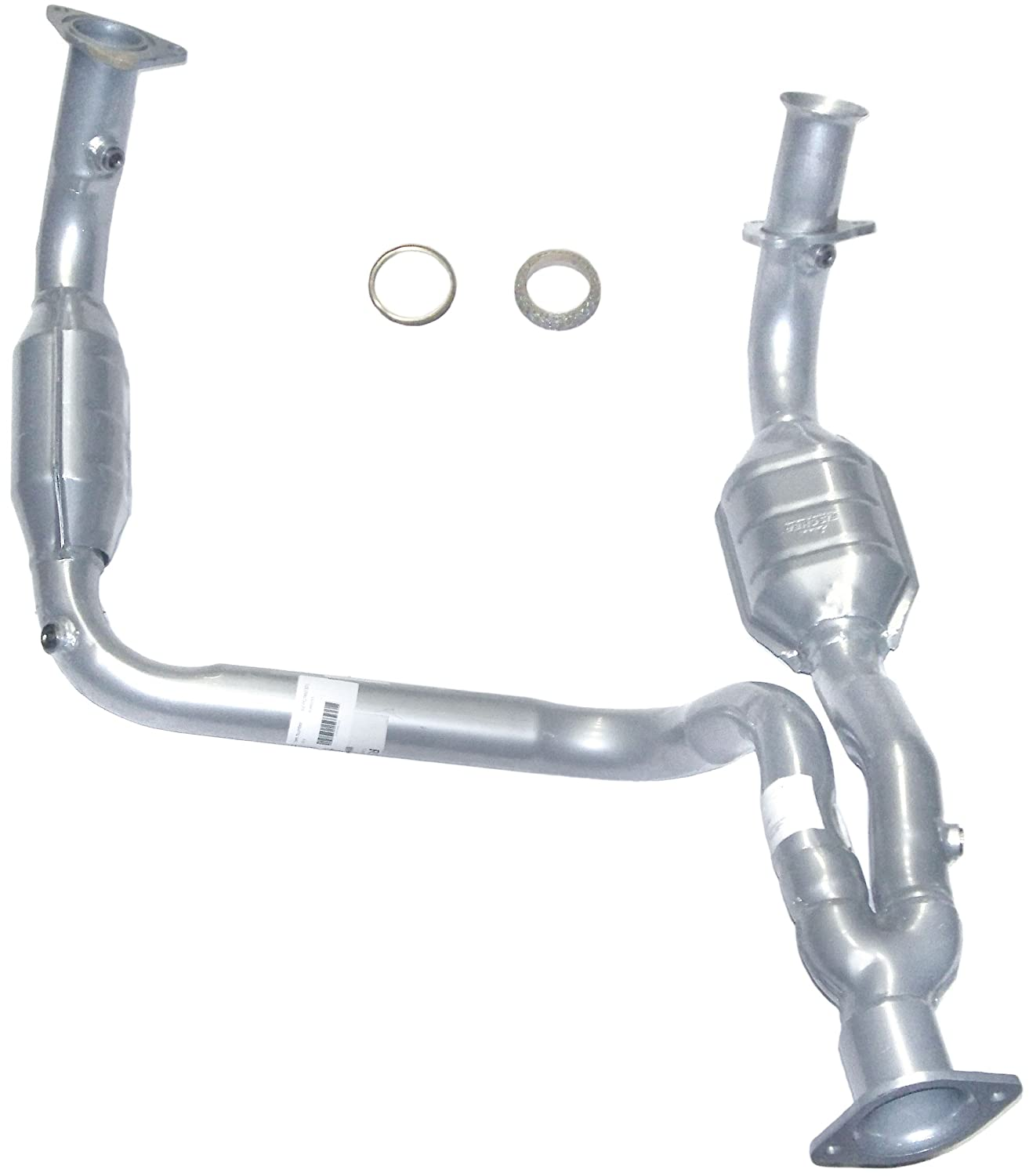 Amazon com evanfischer repg960301 silver powder coated catalytic converter with heat shield automotive