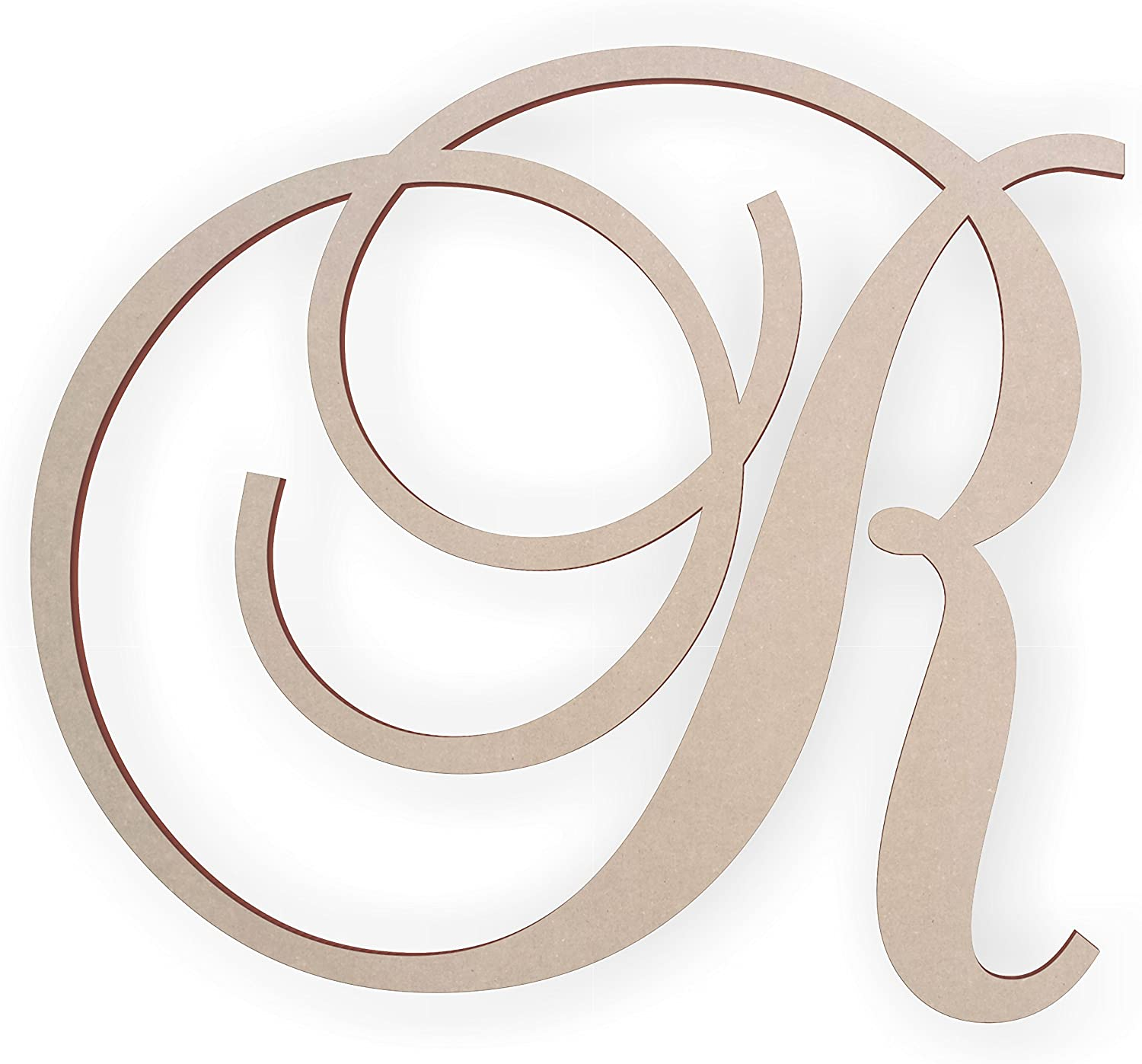 Jess and Jessica Wooden Letter R, Wooden Monogram Wall Hanging, Large Wooden Letters, Cursive Wood Letter