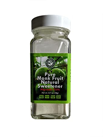 First Harvest Tea Monk Fruit Mogroside V50 Concentrated Powdered Sweetner – .7oz